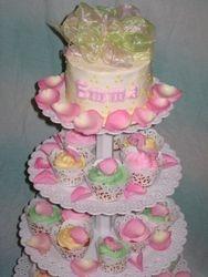 Cupcake Tree Tower with Cake