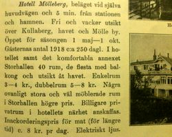 Hotell Molleberg 1920