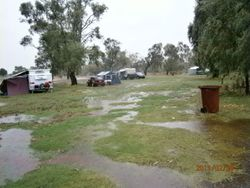 After heavy rain at Gum Bend Lake - Feb 2013