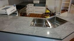 Corner Kitchen Sink in Island Bench.