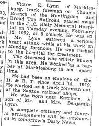 Lynn, Victor E. 1952