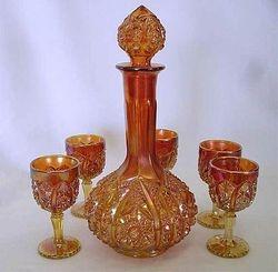 Octagon wine set, marigold