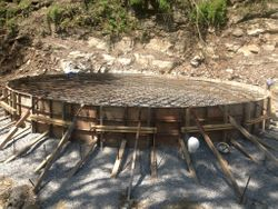 Foundation for 250,000 gallon Water Tank
