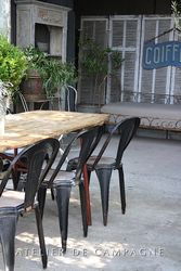 #24/259 Belgian Fibrocit chairs set of 10
