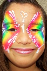 Rainbow Butterfly (White)