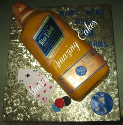 CAKE 40A1 -Johnny Walker Bottle Cake