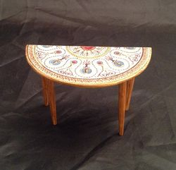 Side table decorated with Robert Adam paper