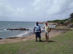 John with Simon, our Carriacou guide