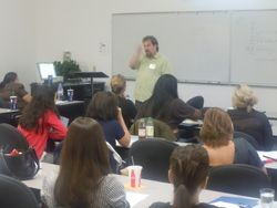 Sean's stories helps workshop attendees to better understand how to impliment his suggestions within their own school