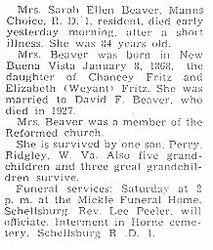 Beaver, Sarah Fritz