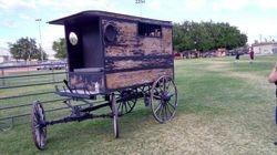 Old paddy wagon at the 2017 WWE