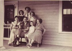 On The Porch, Deering, Grandaddy Fletcher, Eileen Stewart, Grandma Katy - 1940's