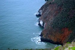 Blue sea cliffs