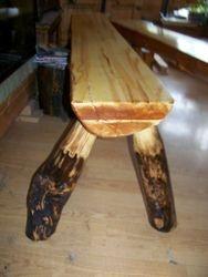 """poplar garden bench with """"special"""" round legs"""