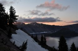 Crater Lake Sunset 1