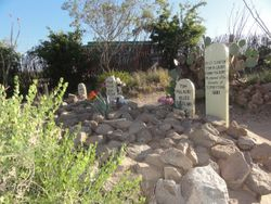 actual burial site of the 3 who Erp & the others shot at the OK Corral