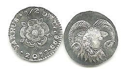 VARHUS .999 Silver Ha'Penny