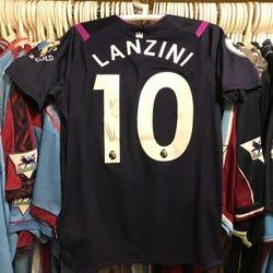 Manuel Lanzini worn, signed and unwashed 3rd shirt.