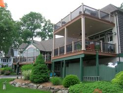 Two Story Full Length Trex Deck & Railing 12