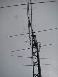 Our VHF tower now has a lean to it