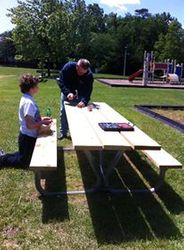 Our picnic table in great shape! May 2013