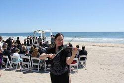 Spring Beach wedding ceremony