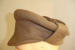 OR's Gor-Blimey cap, brown serge £60