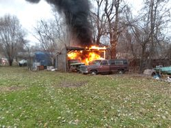 Car & Shed Fire, 11-23-18