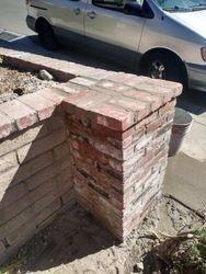 Built brick post