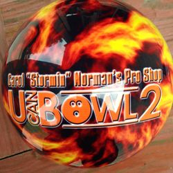Reverse side of Bowling Ball