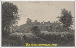 Dudley Castle View.1838.