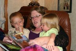 Donna Rock and grandkids