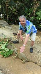 Randy with Iguana in Roatan