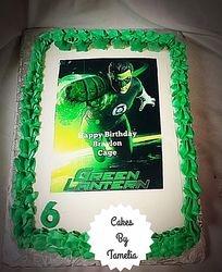 Green Lantern Sheet cake