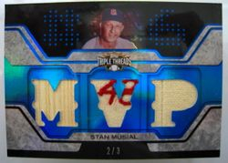 Stan Musial 2008 Topps Triple Threads Game Used Relic Card 2/3