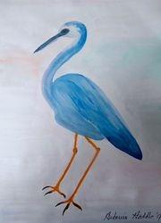Title        : IM  Poetic bird blue heron LW