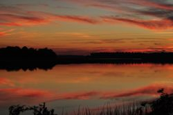 Sunset on Wallace Creek