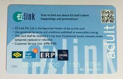 Stop being so negative ez-link card!!