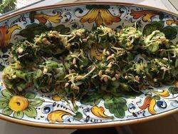 Spring Onion Crostini with Pine Nuts & Lemon Zest