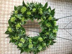 Hydrangea & Mixed Greens Wreath