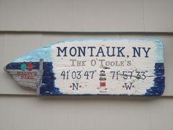 Montauk, NY sign