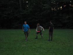 Frizbee matches on Clark Field