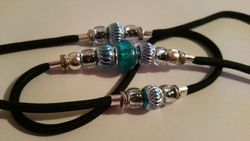Black and turquoise