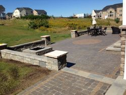 Versa-lok Seating Walls with Stratford Pavers