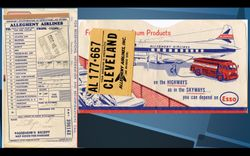 Fred S. Gettys Receipt For Airline Ticket