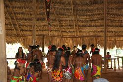 Dancing at Embera Indigenous Village