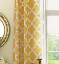 Geometric Curtains Lined -132L X 52W