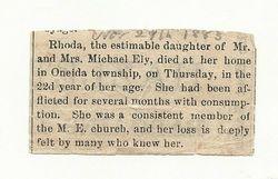 Rhoda Ealy Obituary