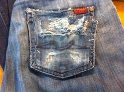 Holey Back Jeans Pocket #1-2