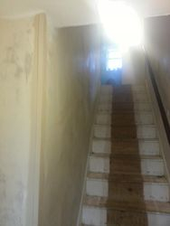 One tide hall stairs & landing the before